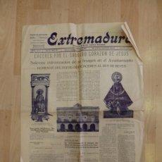 Coleccionismo de Revistas y Periódicos: PERIODICO EXTREMADURA, 26 DE ABRIL DE 1925, 4 HOJAS, RARISIMO. Lote 88285896