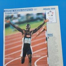 Coleccionismo de Revistas y Periódicos: ESPECIAL JUEGOS OLÍMPICOS. GRANDES MITOS -RECORTE SUPERTELE: MICHAEL JOHNSON OLIMPIADAS ATLANTA 1996. Lote 88827115