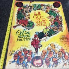 Coleccionismo de Revistas y Periódicos: LA CODORNIZ 1441 EXTRA HUMOR POLITICO ( HUMOR ). Lote 43695451