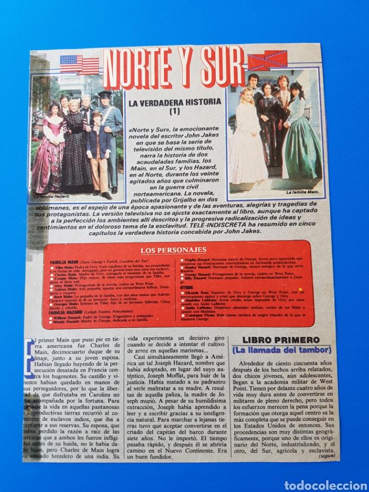 NORTE Y SUR - PATRICK SWAYZE, LESLIE ANNE-DOWN, JAMES READ - RECORTE TELE-INDISCRETA (Coleccionismo - Revistas y Periódicos Modernos (a partir de 1.940) - Otros)