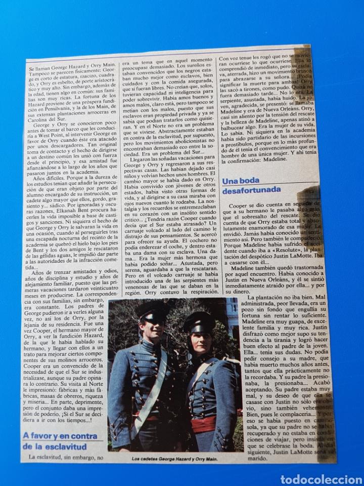 Coleccionismo de Revistas y Periódicos: NORTE Y SUR - PATRICK SWAYZE, LESLIE ANNE-DOWN, JAMES READ - RECORTE TELE-INDISCRETA - Foto 4 - 89366012