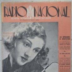 Coleccionismo de Revistas y Periódicos: REVISTA RADIO NACIONAL, Nº 184. 17 MAYO 1942. AMPARITO RIVELLES. Lote 89432732