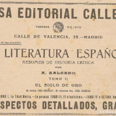 Coleccionismo de Revistas y Periódicos: PUBLICIDAD CASA EDITORIAL CALLEJA - 1916. Lote 89523116