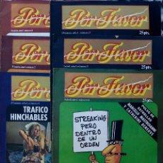 Coleccionismo de Revistas y Periódicos: POR FAVOR. LOTE 6 REVISTAS. Nº1, 2, 3, 4, 5, 6. REVISTAS HUMOR. Lote 89537064
