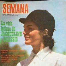 Coleccionismo de Revistas y Periódicos: REVISTA SEMANA NÚMERO 1515, MARZO AÑO 1969. JACQUELINE ONASSIS . Lote 149281198