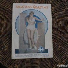 Coleccionismo de Revistas y Periódicos: REVISTA EROTICA AÑO 1930-MUCHAS GRACIAS-. Lote 89976192