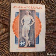 Coleccionismo de Revistas y Periódicos: REVISTA EROTICA AÑO 1931 -MUCHAS GRACIAS-. Lote 89981732