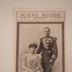 Coleccionismo de Revistas y Periódicos: HOJA REVISTA ORIGINAL 1907. REYES DE ESPAÑA, ALFONSO XIII Y VICTORIA. NACIMIENTO PRINCIPE HEREDERO. Lote 90090244