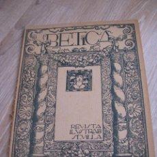 Coleccionismo de Revistas y Periódicos: BÉTICA. REVISTA ILUSTRADA DE SEVILLA. AÑO 3 NUMERO 28. 28 FEBRERO 1915. Lote 90174724