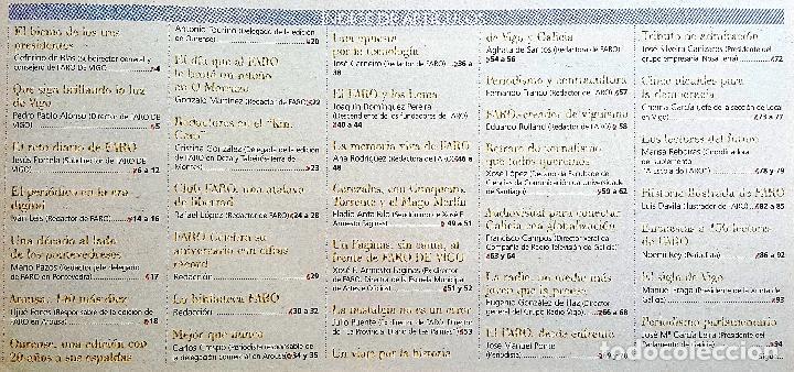 Coleccionismo de Revistas y Periódicos: FARO DE VIGO 150 AÑOS 2003. PRENSA. GALICIA - Foto 2 - 90183680