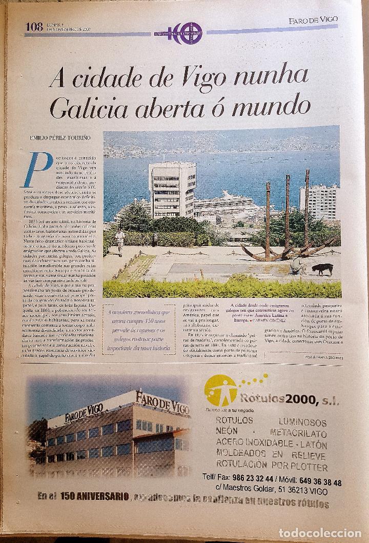 Coleccionismo de Revistas y Periódicos: FARO DE VIGO 150 AÑOS 2003. PRENSA. GALICIA - Foto 3 - 90183680