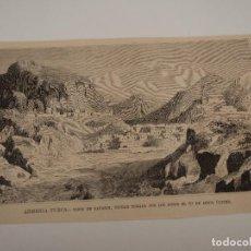 Coleccionismo de Revistas y Periódicos: GRABADO REVISTA ORIGINAL SIGLO XIX. VISTA DE BAYAZIH, ARMENIA TURCA, TOMADA POR RUSOS. Lote 90494985