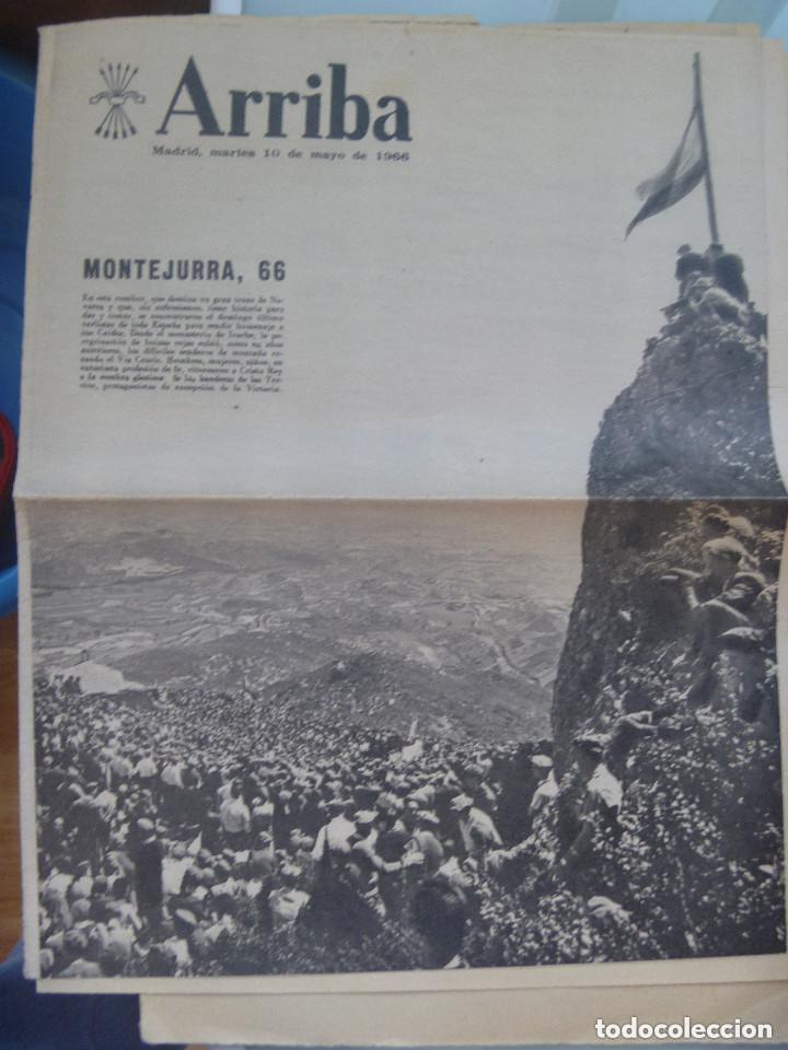 SUPLEMENTO ESPECIAL PARA NAVARRA DE ARRIBA ( DIARIO FALANGE ) : MONTEJURRA 1966 (Coleccionismo - Revistas y Periódicos Modernos (a partir de 1.940) - Otros)