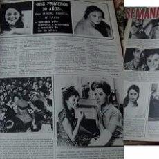 Coleccionismo de Revistas y Periódicos: REVISTA SEMANA 1974 ROCÍO DÚRCAL. Lote 90731375