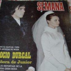 Coleccionismo de Revistas y Periódicos: REVISTA SEMANA 1970 BODA ROCÍO DÚRCAL Y JUNIOR. Lote 90731535