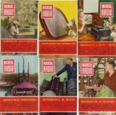 Coleccionismo de Revistas y Periódicos: MANUAL DE RADIO NOS. 12, 17, 19, 26, 27 Y 32. (ED. BRUGUERA, 1953-1955). Lote 90759520