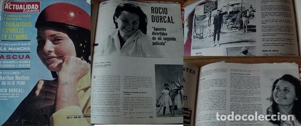 REVISTA ACTUALIDAD ESPAÑOLA 1962 ROCÍO DÚRCAL (Coleccionismo - Revistas y Periódicos Modernos (a partir de 1.940) - Otros)