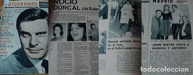 REVISTA FOTOGRAMAS 1963 ROCÍO DÚRCAL MARISOL (Coleccionismo - Revistas y Periódicos Modernos (a partir de 1.940) - Otros)