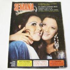 Coleccionismo de Revistas y Periódicos: REVISTA SEMANA Nº 1650 DE OCTUBRE DE 1971 - FILIZ VURAL MISS EURIPA - RITA PAVONE - PAQUITA TORRES. Lote 90969105