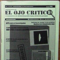 Coleccionismo de Revistas y Periódicos: REVISTA EL OJO CRÍTICO Nº 76. OVNIS,PARAPSICOLOGIA,PARANORMAL,MATERIA RESERVADA,ESPIAS,CONSPIRACIÓN. Lote 91530018