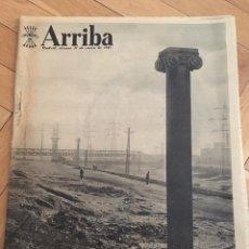 Coleccionismo de Revistas y Periódicos: ARRIBA (11-1-1957) RIO MANZANARES MONASTERIO DEL PARRAL HA MUERTO GABRIELA MISTRAL MANCHESTER UNITED. Lote 91373355