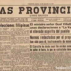 Coleccionismo de Revistas y Periódicos: LAS PROVINCIAS - DIARIO GRAFICO - VALENCIA, 14 NOVIEMBRE 1957. Lote 91539570