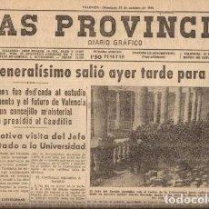 Coleccionismo de Revistas y Periódicos: LAS PROVINCIAS - DIARIO GRAFICO - VALENCIA, 27 OCTUBRE 1957. Lote 91539855