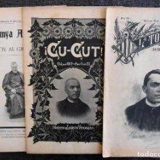 Coleccionismo de Revistas y Periódicos: 3 ESPECIALS MORT JACINT VERDAGUER (1902): ¡CU-CUT! - CATALUNYA ARTÍSTICA - LA TOMASA. MOSSÈN CINTO. Lote 91609275