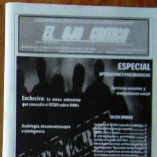 Coleccionismo de Revistas y Periódicos: REVISTA EL OJO CRÍTICO Nº65.ESPECIAL OPERACIONES PSICOLÓGICAS.CESID,CNI,OVNIS,PARAPSICOLOGIA,SECTAS. Lote 93637404