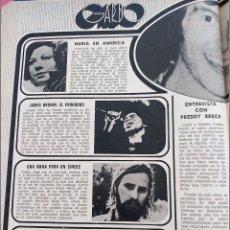 Coleccionismo de Revistas y Periódicos: NURIA FELIU ANA BELEN EMILIO JOSE JAMES BROWN. Lote 245312445