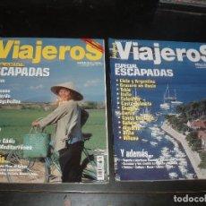 Coleccionismo de Revistas y Periódicos: REVISTA DE VIAJES VIAJEROS ESPECIAL ESCAPADAS,2 REVISTAS. Lote 91801420