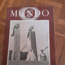 Coleccionismo de Revistas y Periódicos: REVISTA MUNDO DE 1941. Lote 91926089