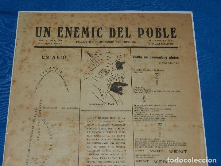(M) REVISTA UN ENEMIC DEL POBLE NUM 16 MARÇ 1919, BARRADAS , JOAQUIM FOLGUERA , J SALVAT PAPASSEIT (Coleccionismo - Revistas y Periódicos Antiguos (hasta 1.939))