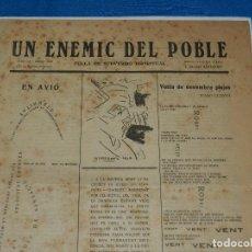 Coleccionismo de Revistas y Periódicos: (M) REVISTA UN ENEMIC DEL POBLE NUM 16 MARÇ 1919, BARRADAS , JOAQUIM FOLGUERA , J SALVAT PAPASSEIT. Lote 92410425