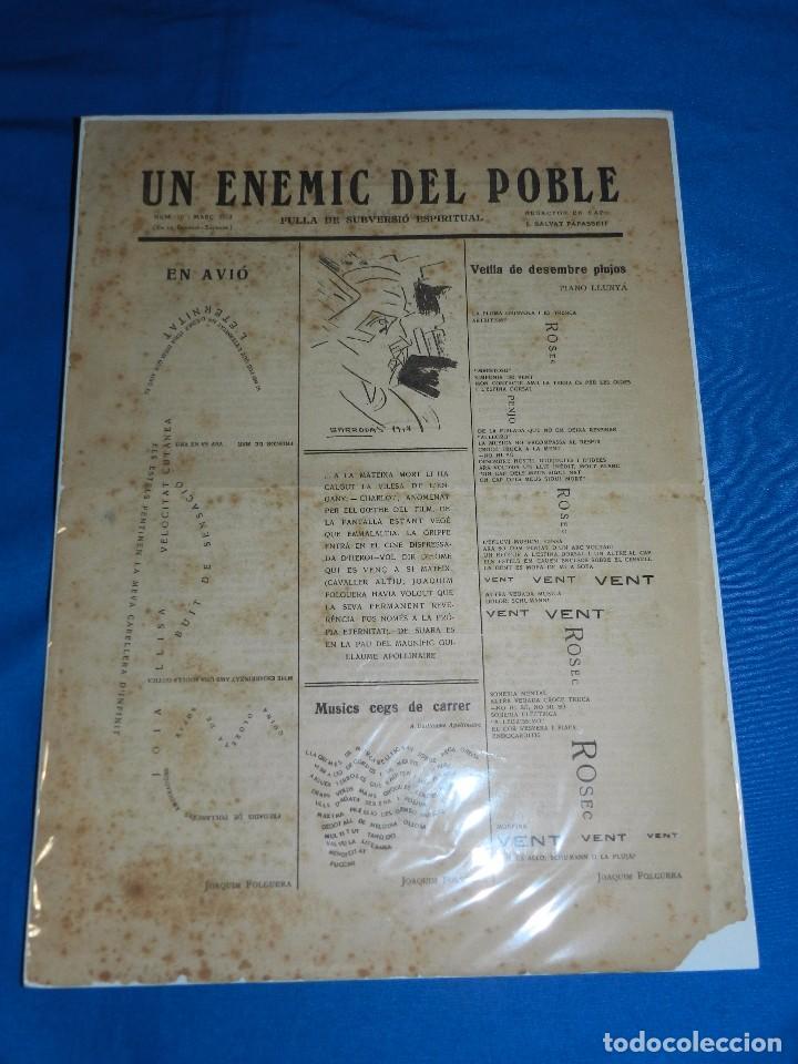Coleccionismo de Revistas y Periódicos: (M) REVISTA UN ENEMIC DEL POBLE NUM 16 MARÇ 1919, BARRADAS , JOAQUIM FOLGUERA , J SALVAT PAPASSEIT - Foto 3 - 92410425