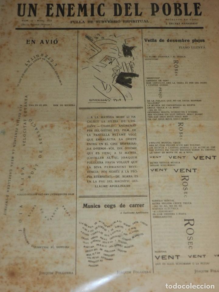 Coleccionismo de Revistas y Periódicos: (M) REVISTA UN ENEMIC DEL POBLE NUM 16 MARÇ 1919, BARRADAS , JOAQUIM FOLGUERA , J SALVAT PAPASSEIT - Foto 4 - 92410425