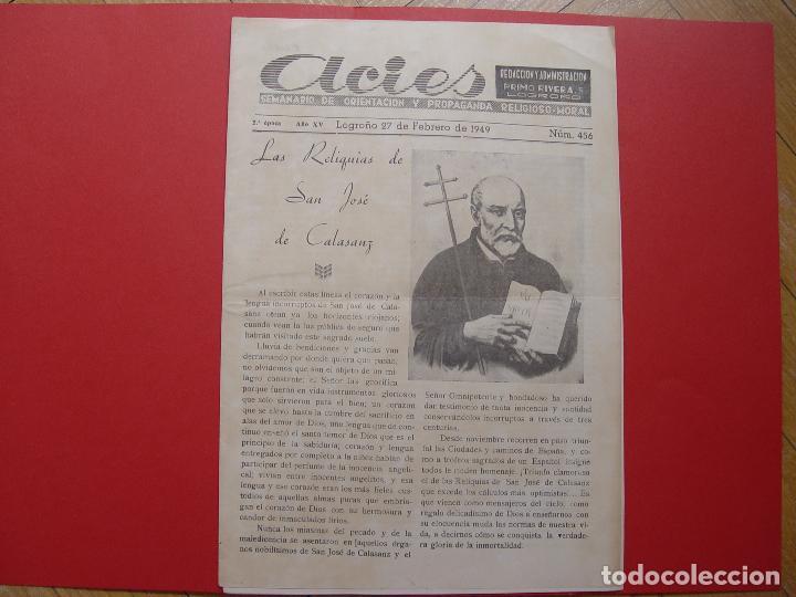PERIÓDICO ACIES (LOGROÑO, 27-II-1949) ¡EJEMPLAR HISTÓRICO! COLECCIONISTA (Coleccionismo - Revistas y Periódicos Modernos (a partir de 1.940) - Otros)