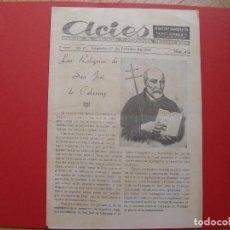 Coleccionismo de Revistas y Periódicos: PERIÓDICO ACIES (LOGROÑO, 27-II-1949) ¡EJEMPLAR HISTÓRICO! COLECCIONISTA. Lote 92740095