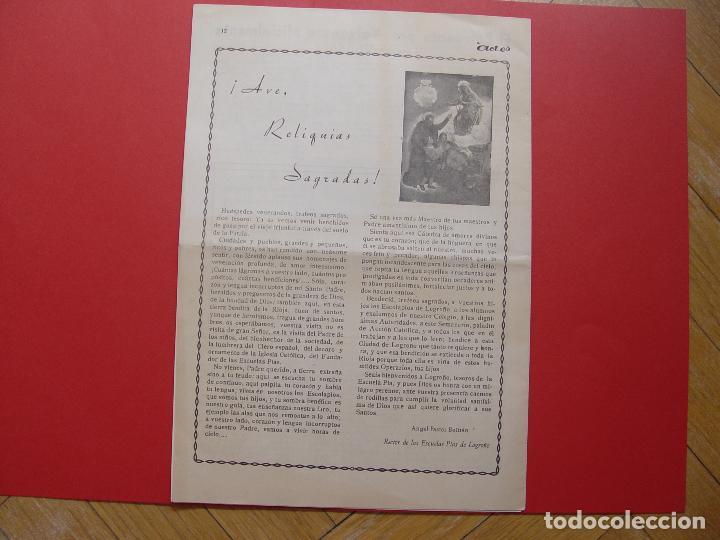 Coleccionismo de Revistas y Periódicos: Periódico ACIES (Logroño, 27-II-1949) ¡Ejemplar histórico! Coleccionista - Foto 3 - 92740095