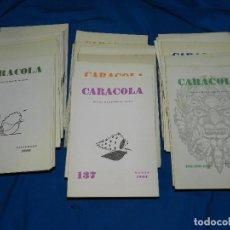 Coleccionismo de Revistas y Periódicos: (M) REVISTA CARACOLA , REVISTA MALAGUEÑA DE POESIA DEL NUM 108 AL NUM 199 , MALAGA 1961. Lote 92788035