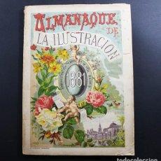 Coleccionismo de Revistas y Periódicos: ALMANAQUE DE LA ILUSTRACION 1881 SUCESORES DE RIVADENEYRA 18804 152 PAGINAS. Lote 93019990