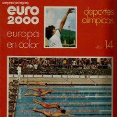 Coleccionismo de Revistas y Periódicos: EURO 2000 - Nº 14 - DEPORTES - ED. VICENS VIVES - COMPLETO - CROMOS SIN PEGAR - SIN USAR. Lote 93342350