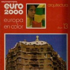 Coleccionismo de Revistas y Periódicos: EURO 2000 - Nº 16 - ARQUITECTURA - ED. VICENS VIVES - COMPLETO - CROMOS SIN PEGAR - SIN USAR. Lote 93342590
