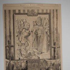Coleccionismo de Revistas y Periódicos: GRABADO REVISTA ORIGINAL SIGLO XIX. FIESTAS MERCED EN BARCELONA. EXPOSICION SANTUARIAS, UNIVERSIDAD. Lote 93364545