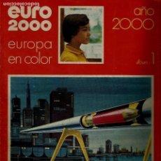 Coleccionismo de Revistas y Periódicos: EURO 2000 - Nº 1 - AÑO 2000 - ED. VICENS VIVES - COMPLETO - CROMOS SIN PEGAR - SIN USAR. Lote 93366900