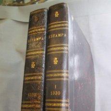 Coleccionismo de Revistas y Periódicos: ESTAMPA. REVISTA GRÁFICA Y LITERARIA DE LA ACTUALIDAD ESPAÑOLA Y MUNDIAL. 1930 AÑO COMPLETO. 2 TOMOS. Lote 93691225