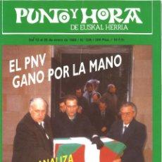 Coleccionismo de Revistas y Periódicos: PUNTO Y HORA DE EUSKAL HERRIA. 538. ENERO 1989. Lote 93707975