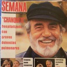 Coleccionismo de Revistas y Periódicos: REVISTA SEMANA AÑO 1983. NÚMERO 2238. CHANQUETE. Lote 93719110