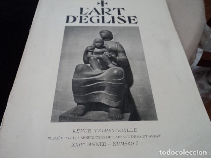 L´ART D´EGLISE REVISTA LITURGICA 1955 EN FRANCES EL ARTE RELIGIOSO EN INGLATERRA (Coleccionismo - Revistas y Periódicos Modernos (a partir de 1.940) - Otros)