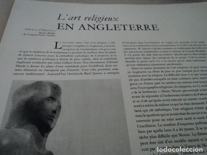 Coleccionismo de Revistas y Periódicos: L´ART D´EGLISE REVISTA LITURGICA 1955 EN FRANCES EL ARTE RELIGIOSO EN INGLATERRA - Foto 3 - 93830665